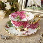 Classy British Royal Bone China Coffee Cup Ceramic Porcelain Tea Cup Saucer Spoon