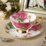 Classy British Royal Bone China Coffee Cup Ceramic Porcelain Tea Cup Saucer Spoon