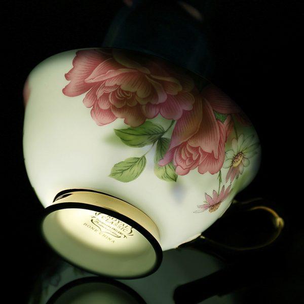 Classy British Royal Bone China Coffee Cup Ceramic Porcelain Tea Cup Saucer Spoon 5