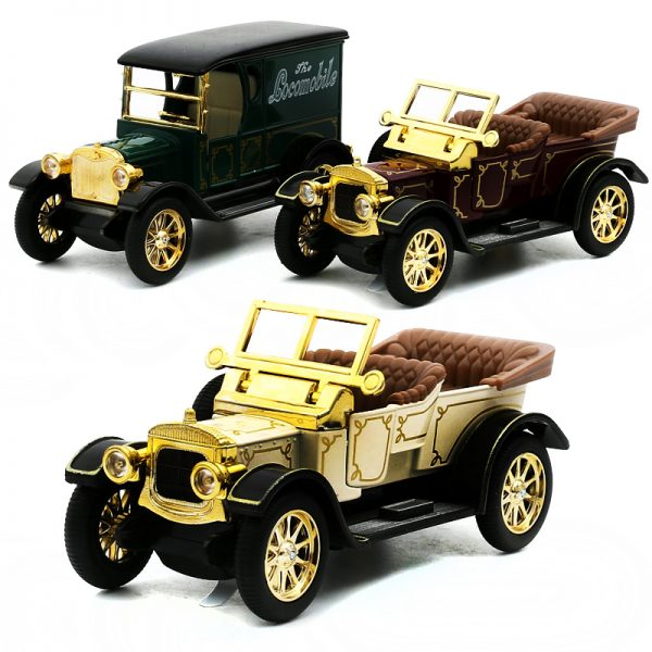 Top Collection Royal Classical Vintage Car Model Sound Light Alloy Metal Diecasts Toy Vehicles 1