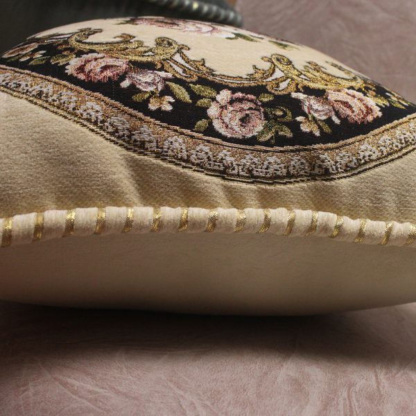 European Royal Floral Cushion Cover Top Quality Embroidered Luxury Pillow Covers 3