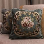 European Royal Floral Cushion Cover Top Quality Embroidered Luxury Pillow Covers 2
