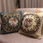 European Royal Floral Cushion Cover Top Quality Embroidered Luxury Pillow Covers
