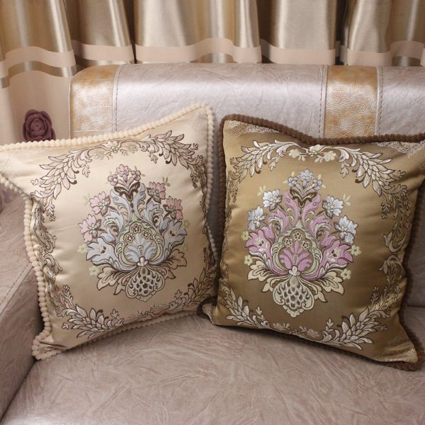 Decorative Luxury Pillow Cushion Covers 45x45cm Vintage Home Sofa European Royal Floral 1