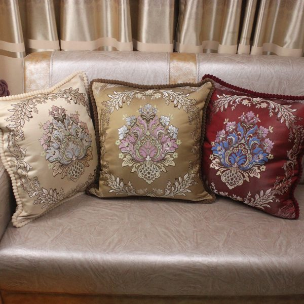 Decorative Luxury Pillow Cushion Covers 45x45cm Vintage Home Sofa European Royal Floral